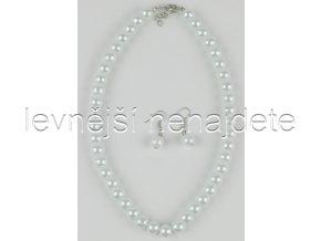 Souprava bílé perličky a náušnice