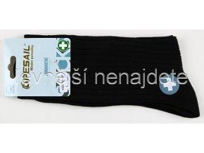 Pánské zdravotní bavlněné ponožky černé