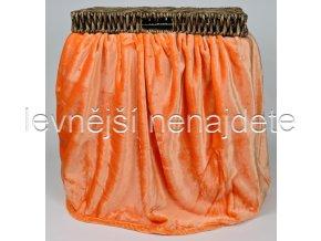 Deka mikroflanel oranžová 150 x 200