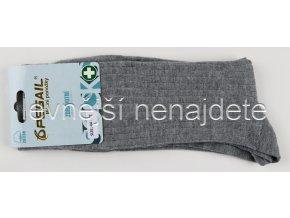 Pánské zdravotní bavlněné ponožky šedé