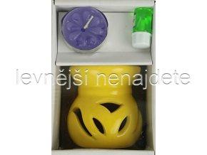 Keramická aroma lampa set žlutý