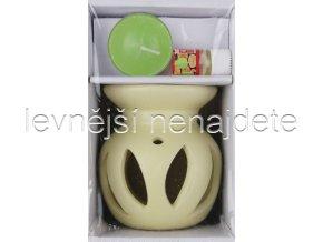 Keramická aroma lampa set přírodní