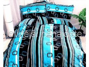 POVLEČENÍ MIKROFLANEL VELVET modrý 140 x 200 70 x 90