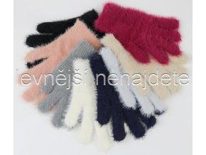 Dámské  rukavice z kašmíru barevné
