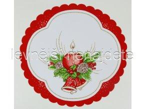 Vánoční ubrus svíčka 35 cm