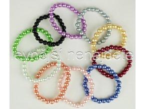 Náramek pružný z voskovaných perel