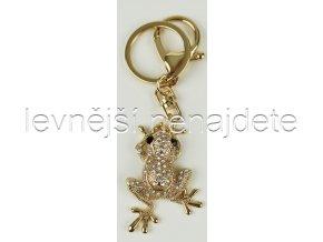 Přívěsek na klíček žába zlatá
