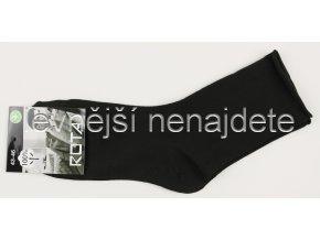 Pánské bavlněné zdravotní ponožky černé