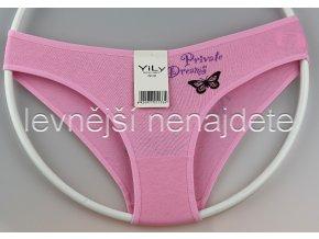 Bavlněné kalhotky Y33W růžové