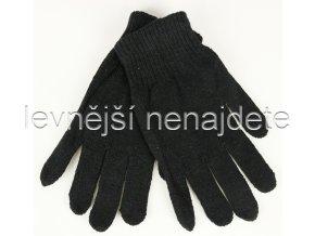 Dámské levné pletené rukavice černé
