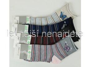 Dámské bavlněné zdravotní ponožky L34W 3 páry