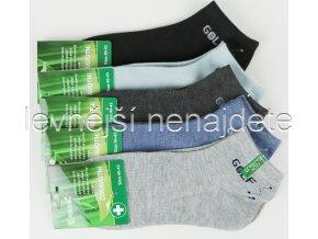 Pánské zdravotní bambusové kotníkové ponožky 3 páry