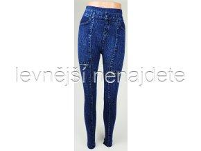Dámské bambusové legíny jeans zíp