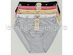 Bavlněné kalhotky kytka