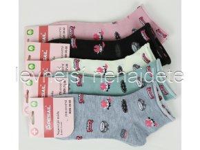 Dámské bavlněné zdravotní ponožky L57W 3 páry