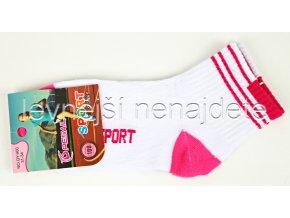 Dívčí bavlněné ponožky 3 páry sport