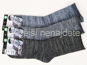 Pánské zdravotní bavlněné ponožky melír 3 páry