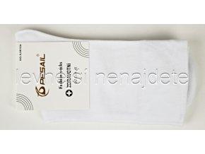Dámské zdravotní bavlněné ponožky bílé