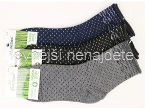 Dámské bambusové zdravotní ponožky puntík 3 páry