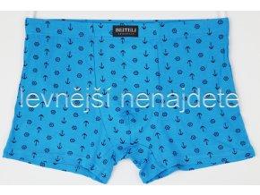 Pánské boxerky modré s kotvičkou