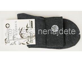 Dámské zdravotní bambusové ponožky tmavě šedé