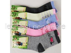 Dívčí  bambusové ponožky 3 páry