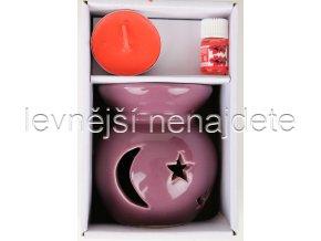 Keramická aroma lampa set fialový