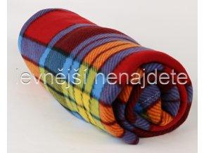 Fleecová deka kostka barevná 150 x 200