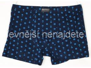 Pánské boxerky tmavě modré s kotvičkou