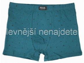 Bavlněné boxerky vzor šedomodré