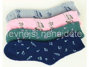 Dámské bavlněné termo ponožky noty 2 páry