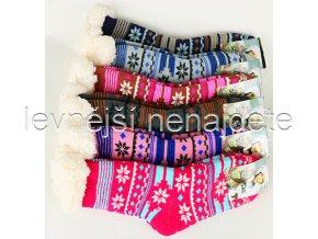 Dámské termo ponožky s beránkem barevné YW07
