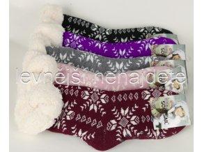 Dámské termo ponožky s beránkem barevné YW13