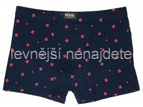 Bavlněné boxerky tm. modré vzor 471