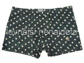 Bavlněné boxerky černé vzor 373