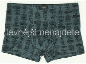 Bambusové boxerky šedé vzor 659