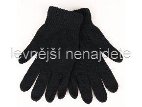Dámské pletené rukavice černé