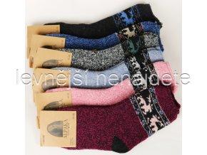 Dámské vlněné termo ponožky  ALPAKA vzor