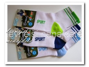 Chlapecké bavlněné ponožky 3 páry sport