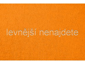Froté prostěradlo oranžové  90x200 cm