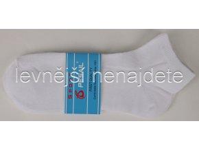 Pánské kotníkové ponožky bílé 3 páry (sport)