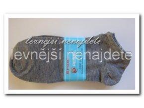 Pánské kotníkové ponožky šedé 3 páry (sport)