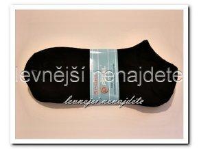 Dámské kotníkové ponožky černé 3 páry (sport)