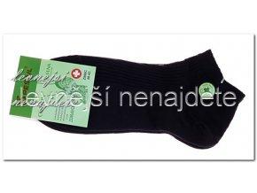 Pánské zdravotní kotníkové ponožky černé