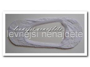 Bambusové krajkové ťapky bílé