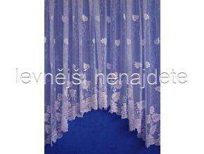 Oblouková záclona lísteček 160 x 450