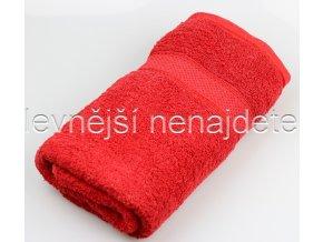 Froté osuška červená 70 x 140 cm