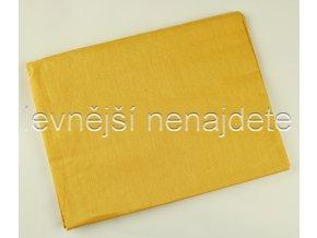 Prostěradlo bavlna plátno ŽLUTÁ 140 x 225