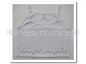 Dámská bavlněná košilka s ramínky bílá