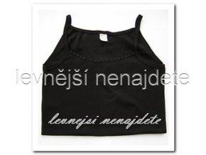 Dámská bavlněná košilka s ramínky černá